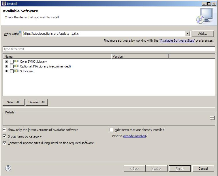 Installare SVN su eclipse