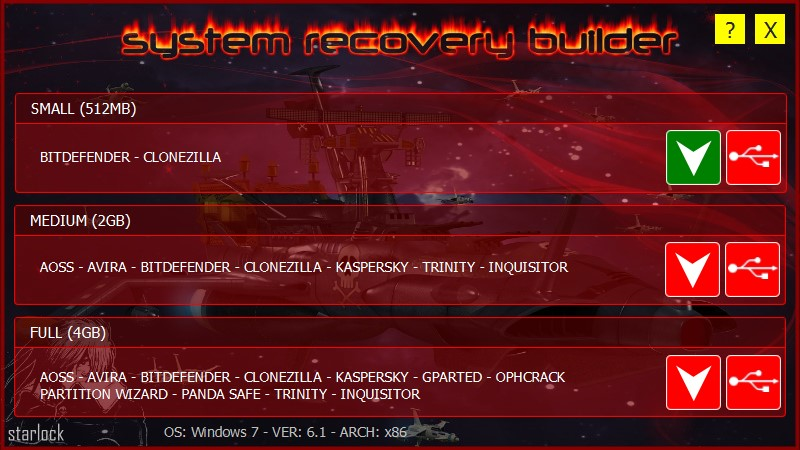 SRB: System Recovery Builder
