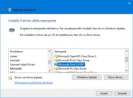 Microsoft Print To PDF scomparsa o mancante